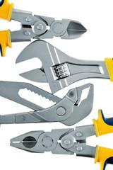 Tools isolated on white background.