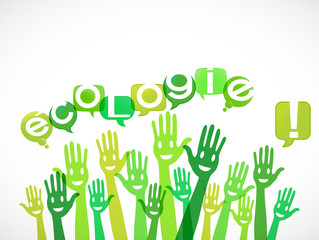 groupe mains souriantes : écologie !