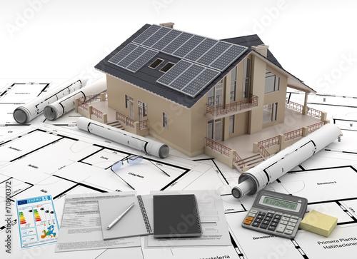 Leinwanddruck Bild Energy efficient construction