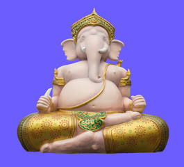 ganesha on purple background