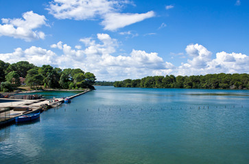 Alimini lake, Salento, Italy