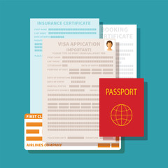 Vector concept of documents for visa application
