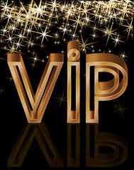 Golden VIP card, vector illustration
