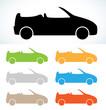 Постер, плакат: cabriolet silhouette
