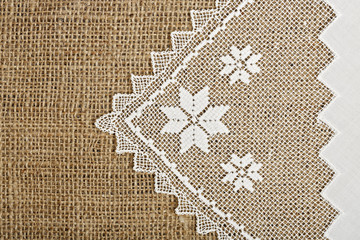 doily and burlap