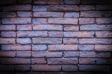 Brick wall in purple.
