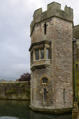 moat and tower of Gatehouse at  Bishop Palace ,Wells