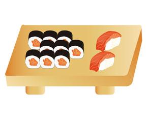 sushi and nigiri