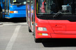 Leinwanddruck Bild - Buses in traffic