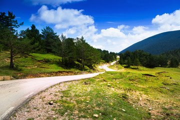 mountains landscape with road