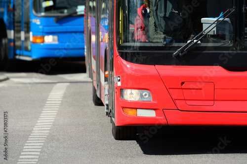 Buses in traffic - 70803175