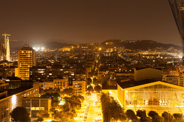 Barcelona in night.