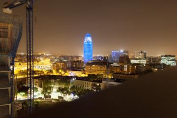 Barcelona in night.