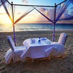 Ready for romantic dinner on the beach