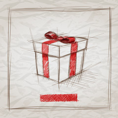 Gift Box Sketch