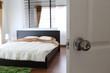 open the door with relax in bedroom