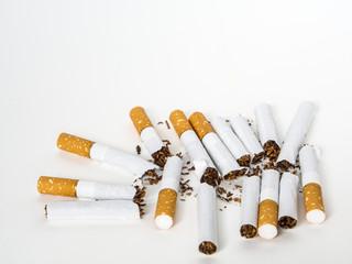 Group of broken cigarette