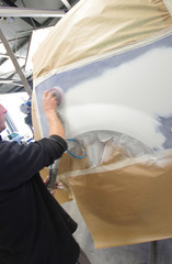 atelier de carrosserie - ponçage