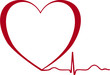 Herz EKG Kurve Symbol