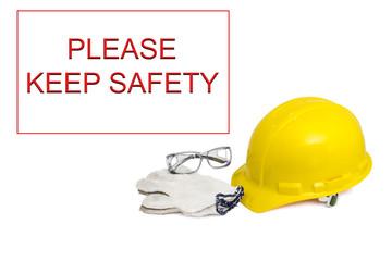 Safety set with alert banner