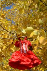 female red dress