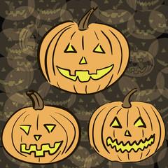 Pumpkins on the Halloween