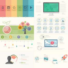 Set of infographics elements for presentation templates.
