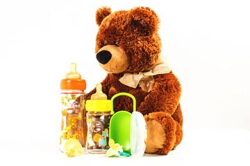 orso giocattolo per infanzia e ciucci