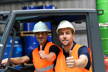 Workers in logistics, Saxony-Anhalt, Germany (Logistik, Arbeiter