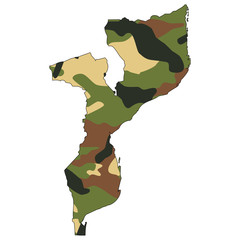 Camo texture in map - Mozambique