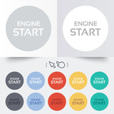 Start engine sign icon. Power button. poster