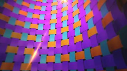 dynamic colorful fabric wall