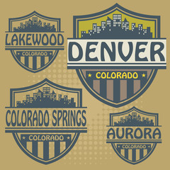 Label set with names of Colorado cities