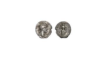 old coin, Antoninus Pius denarius