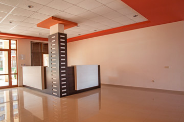 empty room. office interior. reception hall in modern building