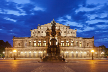 Dresden - Germany - Semper opera at night