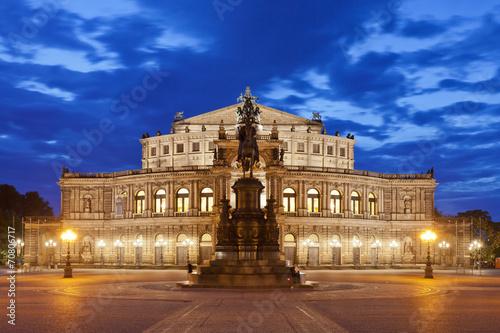 Dresden - Germany - Semper opera at night - 70806717