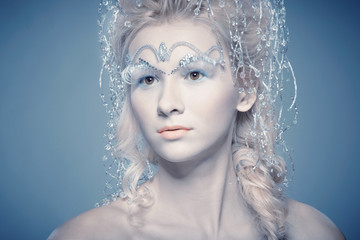 Portrait of Snow Queen from fairytale