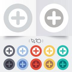 Plus sign icon. Positive symbol.
