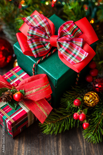 canvas print picture Christmas gift boxes