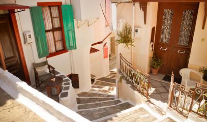 Lovely old Greek street, Vathi, Samos