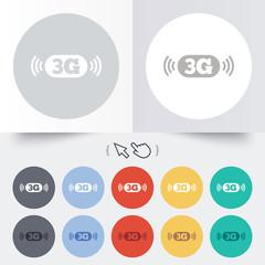 3G sign. Mobile telecommunications technology.