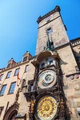 Rathausturm in Prag mit astronomischer Uhr