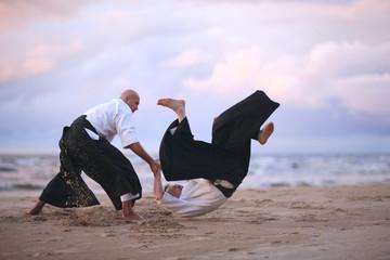 Japanese self-defense technique demonstration