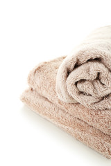 Towels isolated on white