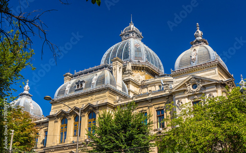 Roof of CEC Palace in Bucharest, Romania - 70809977