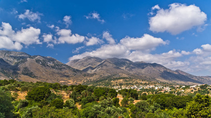 Mountain landscape at the central part of Crete island