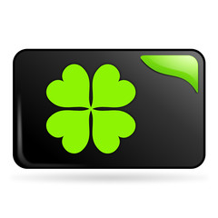 chance sur bouton web rectangle vert