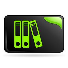 classement sur bouton web rectangle vert