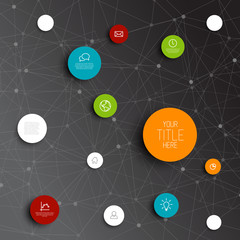 Vector abstract circles infographic network template